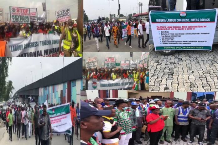 NLC begins nationwide protests over plans to amend National Minimum Wage Act