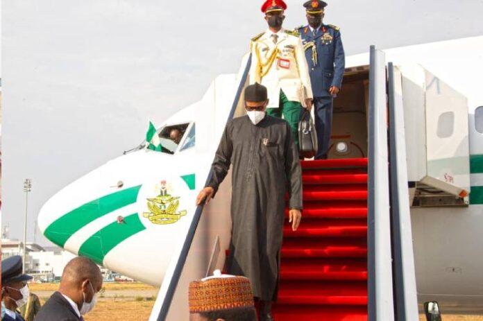 BREAKING: Buhari returns to Abuja after two-week medical trip to UK