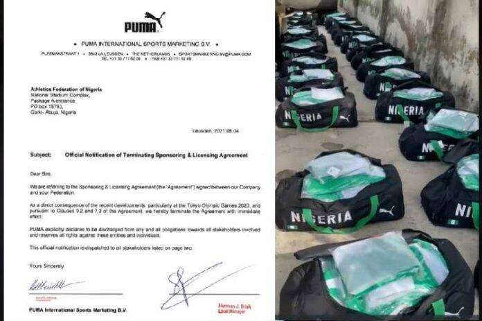Latest news, PUMA cancels $2.7 million contract with Nigeria over Olympics jersey saga