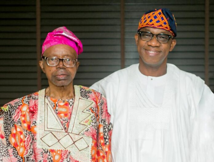 Latest Breaking News about Governor Dapo Abiodun: Asiwaju Tinubu Commiserates with Governor Abidoun on Dad's death