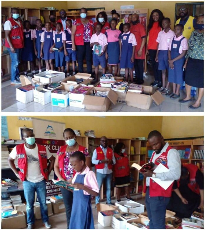 Rotary Club Donates Books To Rivers Rivers Secondary School