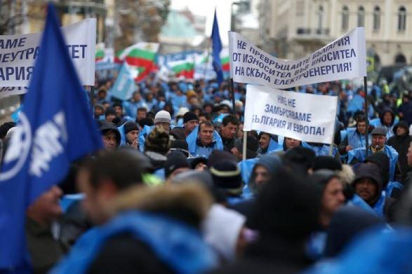 Bulgarian miners protest EU push to close coal mines, power plants